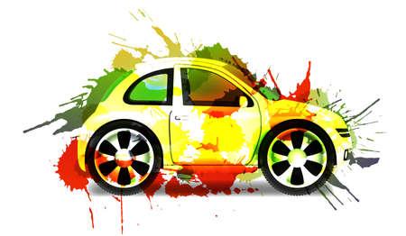 smallest: Car paint concept Stock Photo