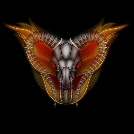 memoria ram: La cabeza de la cabra en el fuego Vectores