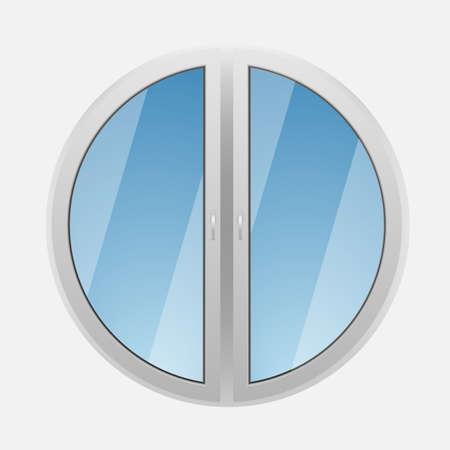 round window: Round plastic window Illustration
