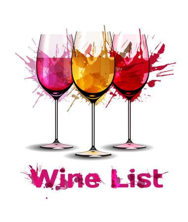 Grunge Weinkarte Vorlage Standard-Bild - 26019289