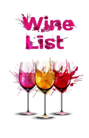 wine list: Grunge wine list template