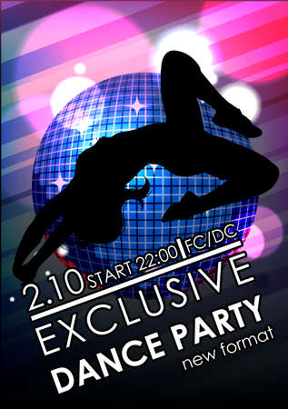 clubber: Dance party poster or flyer template