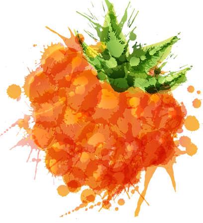 chicout�: Chicout� faite de taches color�es sur fond blanc Illustration
