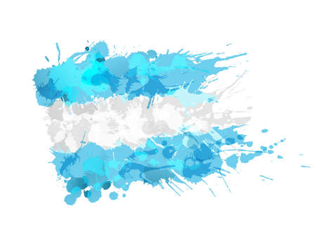 Argentina  flag made of colorful splashes
