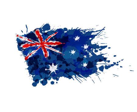 Australische vlag gemaakt van kleurrijke spatten