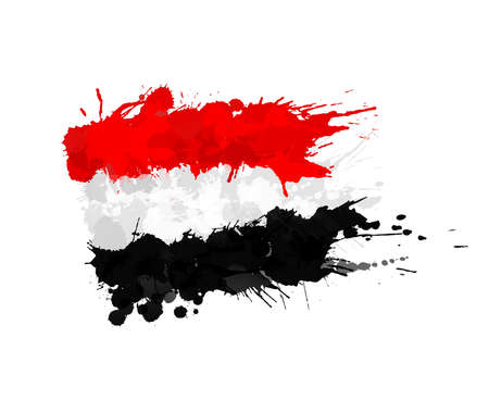 Egypt flag made of colorful splashes