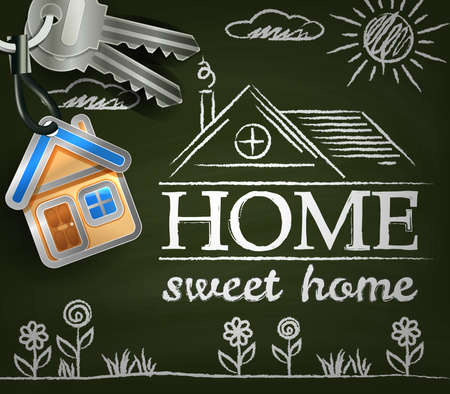 Home sweet home Poster Vectores