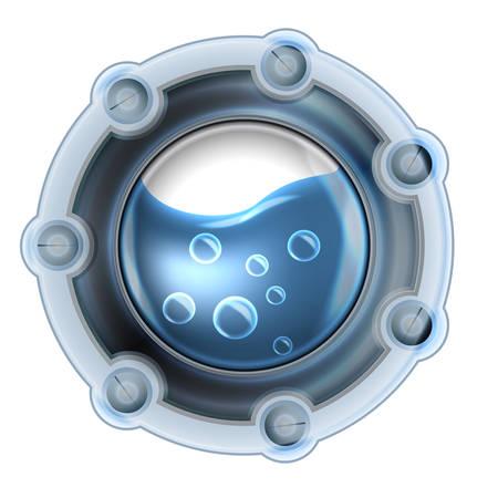 ventana ojo de buey: Ventana de ojo de buey estilo Steampunk