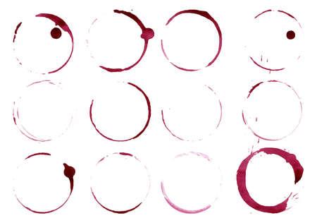 Grunge glas of beker vlekken geïsoleerd op wit