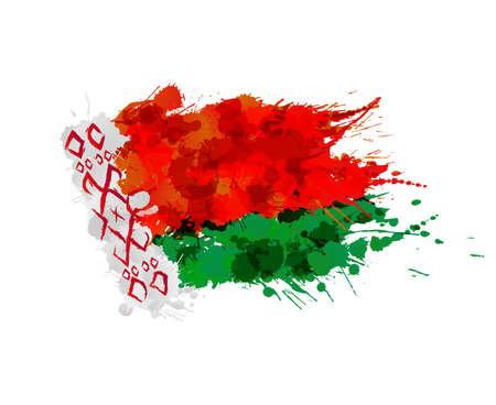 belarus: Flag of Belarus made of colorful splashes