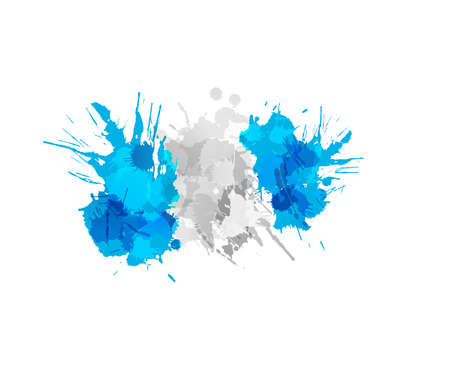 Flag of Guatemala made of colorful splashes Vector