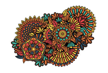 Colorful zentangle pattern Vector