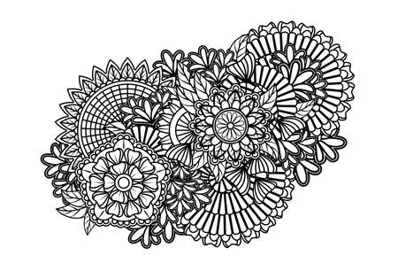 rainbow print: Zentangle pattern Illustration