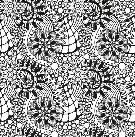 Zentangle seamless pattern Vector