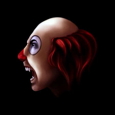 clownophobia: Payaso Evil Foto de archivo