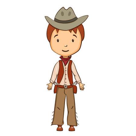 gunfighter: Cartoon cowboy character