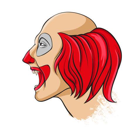 clownophobia: Evil clown portrait
