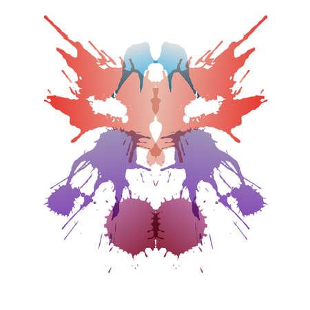 Farbige rorschach Testkarte Standard-Bild - 32761870