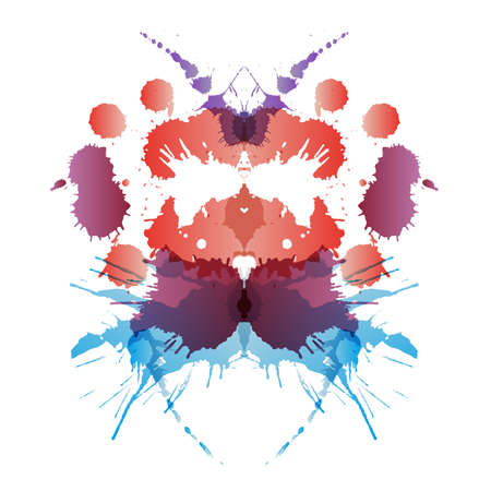 psychiatric: Colored rorschach test card
