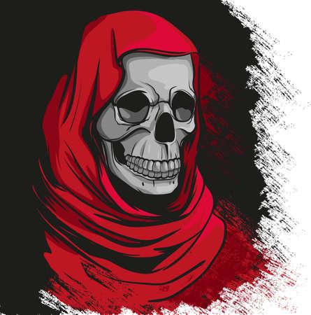 grim reaper: Grim reaper in red robe portrait