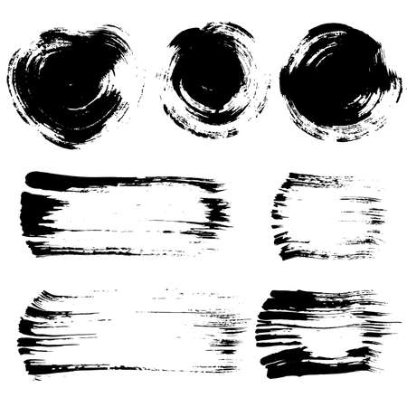 brush stroke: Brush stroke elements set Illustration