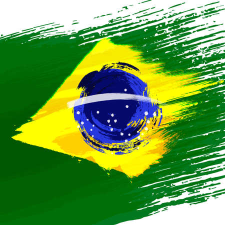 Grunge background in colors of brazilian flag