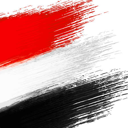 Grunge background in colors of egyptian flag Vector