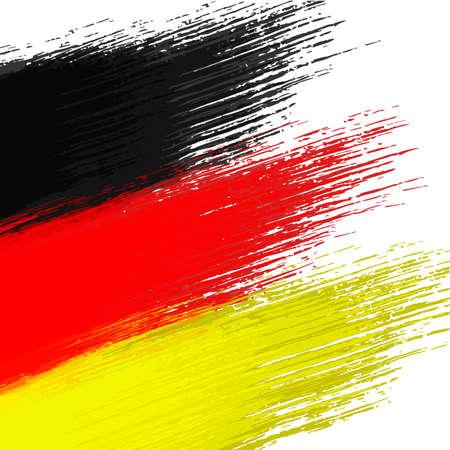 german flag: Grunge background in colors of german flag Illustration