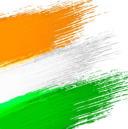Grunge background in colors of indian flag