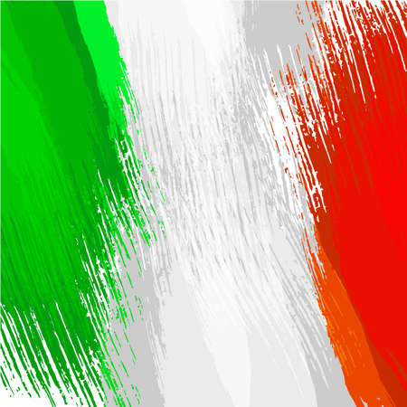 Grunge background in colors of italian flag