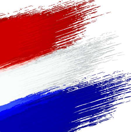 オランダの国旗の色でグランジ背景  イラスト・ベクター素材