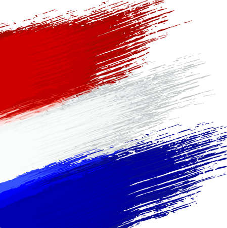 Grunge background in colors of dutch flag