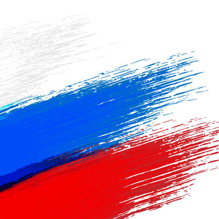 russian flag: Grunge background in colors of Russian flag
