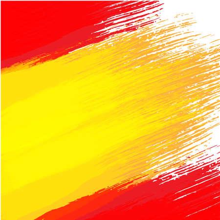 スペインの国旗の色でグランジ背景  イラスト・ベクター素材
