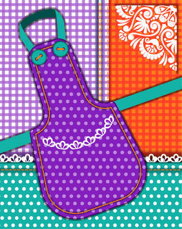 house ware: Background with tablecloth and apron