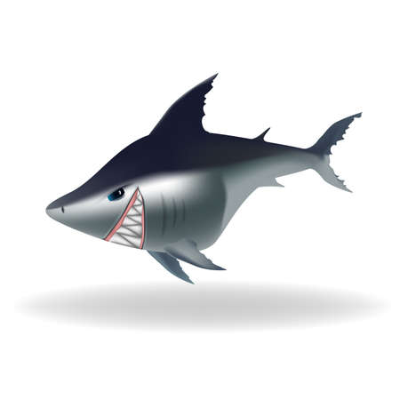 dangerous: Dangerous looking cartoon shark