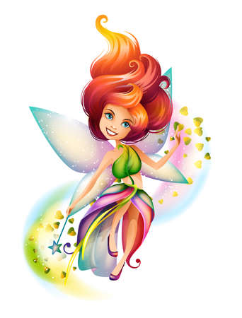 Cute colorful fairy character