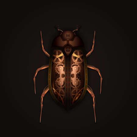 maquina de vapor: Estilo Steampunk escarabajo mecánico