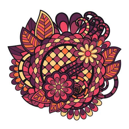 tangle: Zen tangle doodle floral ornament