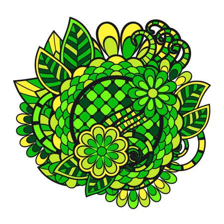 groviglio: Zen groviglio Doodle ornamento floreale