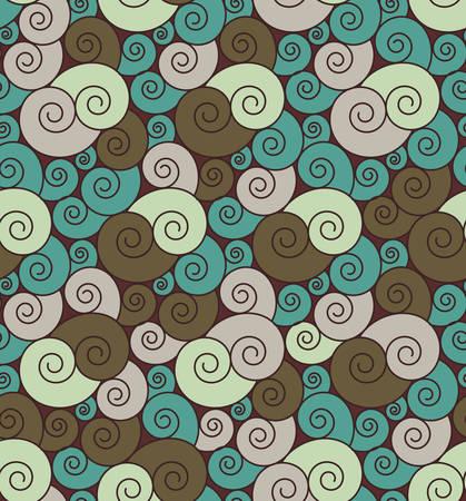 bright: Bright curly seamless pattern Illustration
