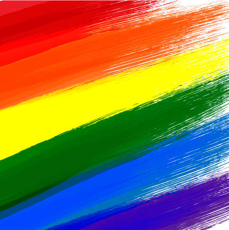 Gay or LGBT flag grunge background Çizim