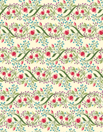 retro pattern: Seamless floral pattern