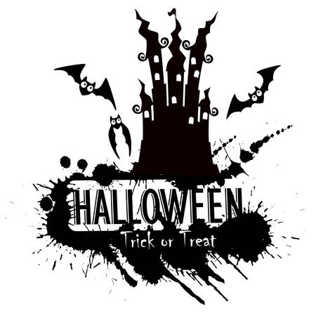 haunted: Grunge Halloween haunted castle