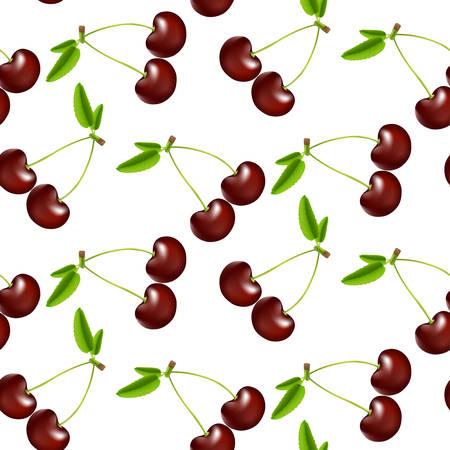 seamless pattern: Seamless cherries pattern