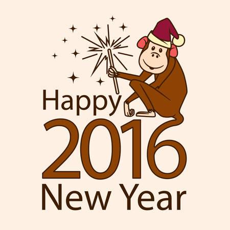 sparkler: 2016 Monkey with sparkler