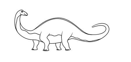 Coloring book: brontosaurus