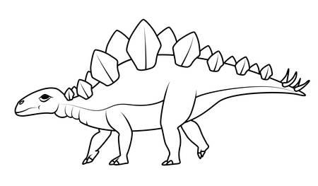 stegosaurus: libro para colorear: Stegosaurus del dinosaurio