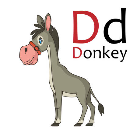 spelling book: D is for donkey Illustration