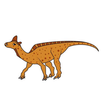 mesozoic: Lambeosaurus dinosaur